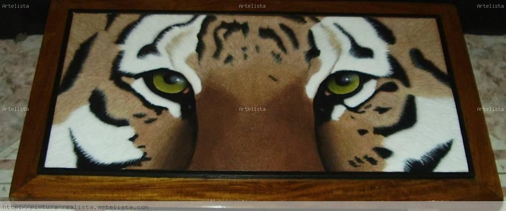 Manualidades infantiles pintar sobre mesa de madera un tigre - Pintar sobre barniz ...