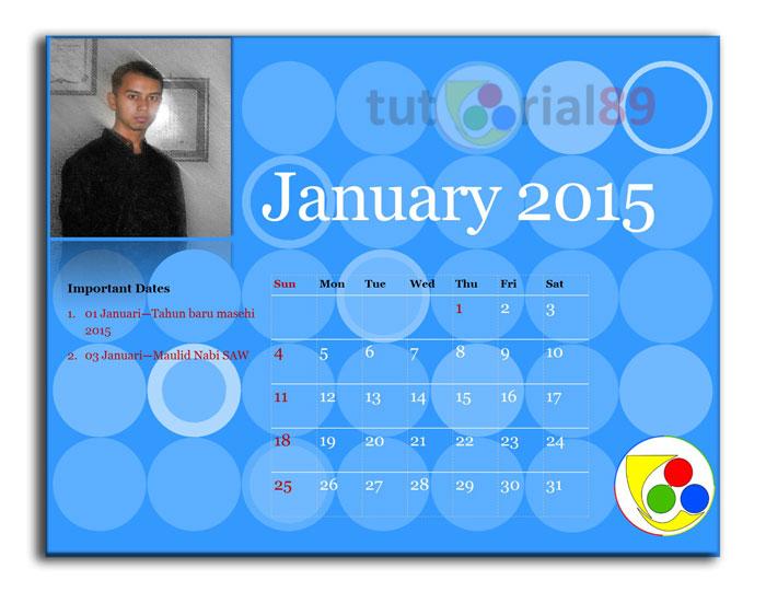 Cara mudah membuat kalender 2015 dengan publisher