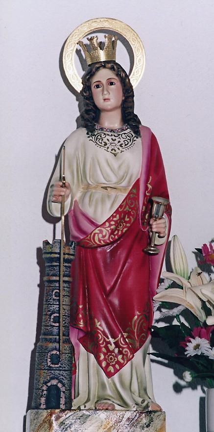 Santa Bárbara de la Capilla de Nuestra Señora  de Covadonga en la Campa de L´Abeduriu