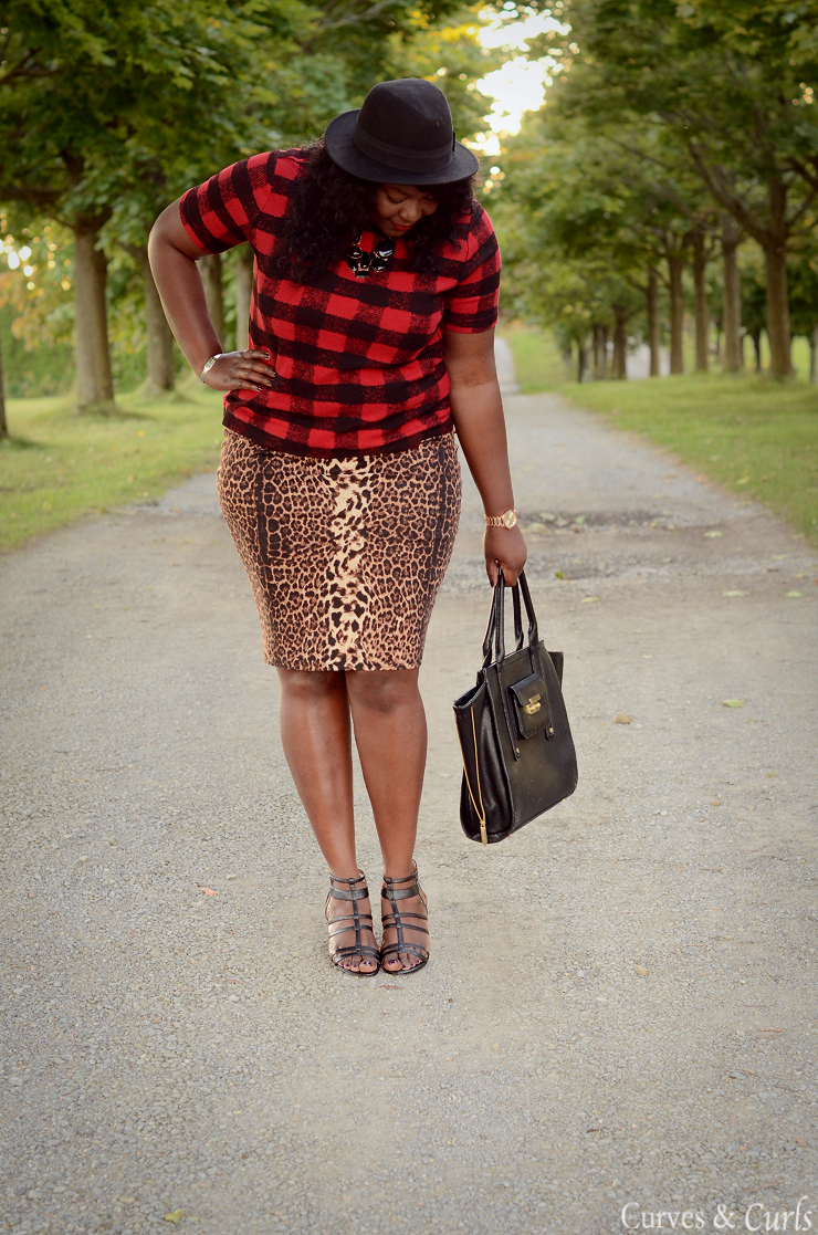 Plaid and Leopard - how to mix prints and patterns- Joe Fresh Extended line