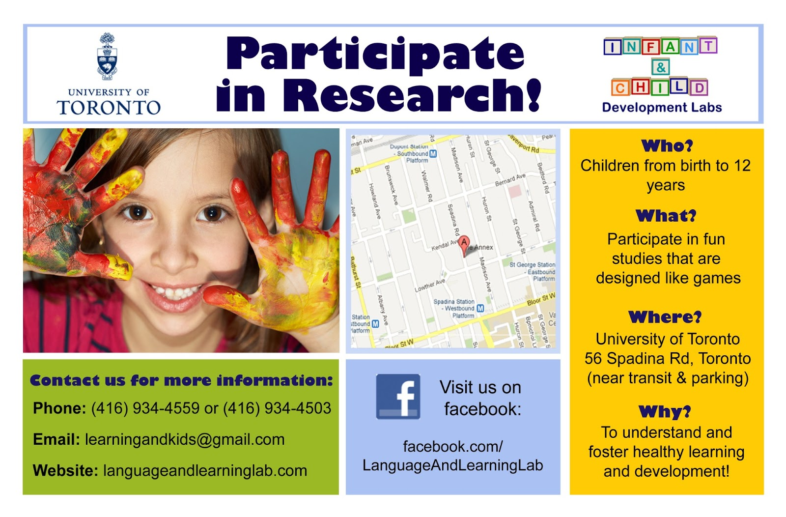 Raising my boys language and learning research at the for Research study flyer template
