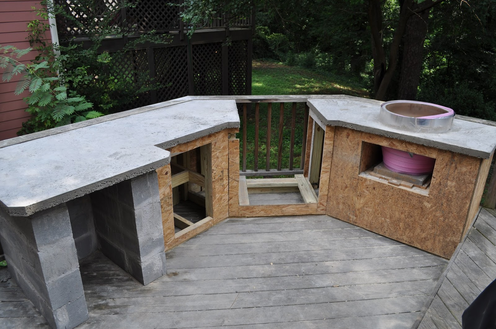 The cow spot outdoor kitchen part 2 for Building an outdoor kitchen