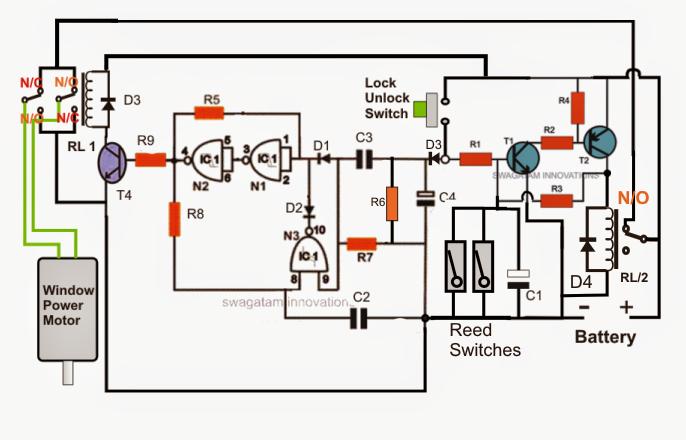 Car Power Window Controller Circuit Part2 Electronic