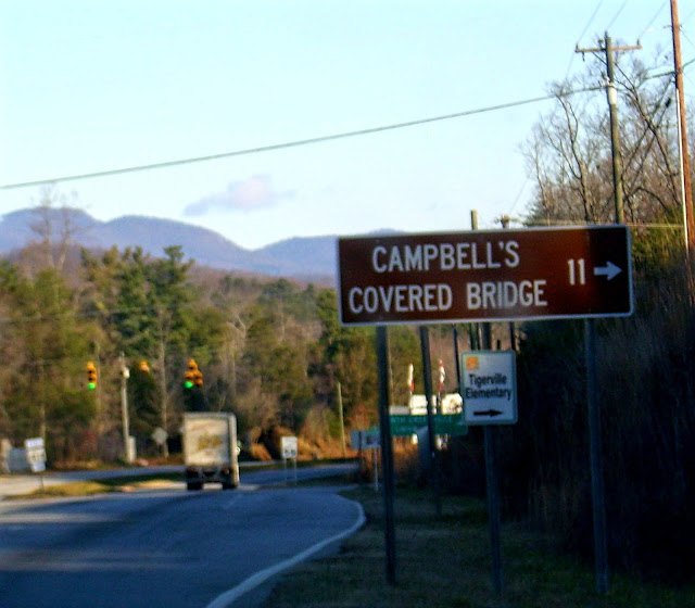 campbells covered bridge sign
