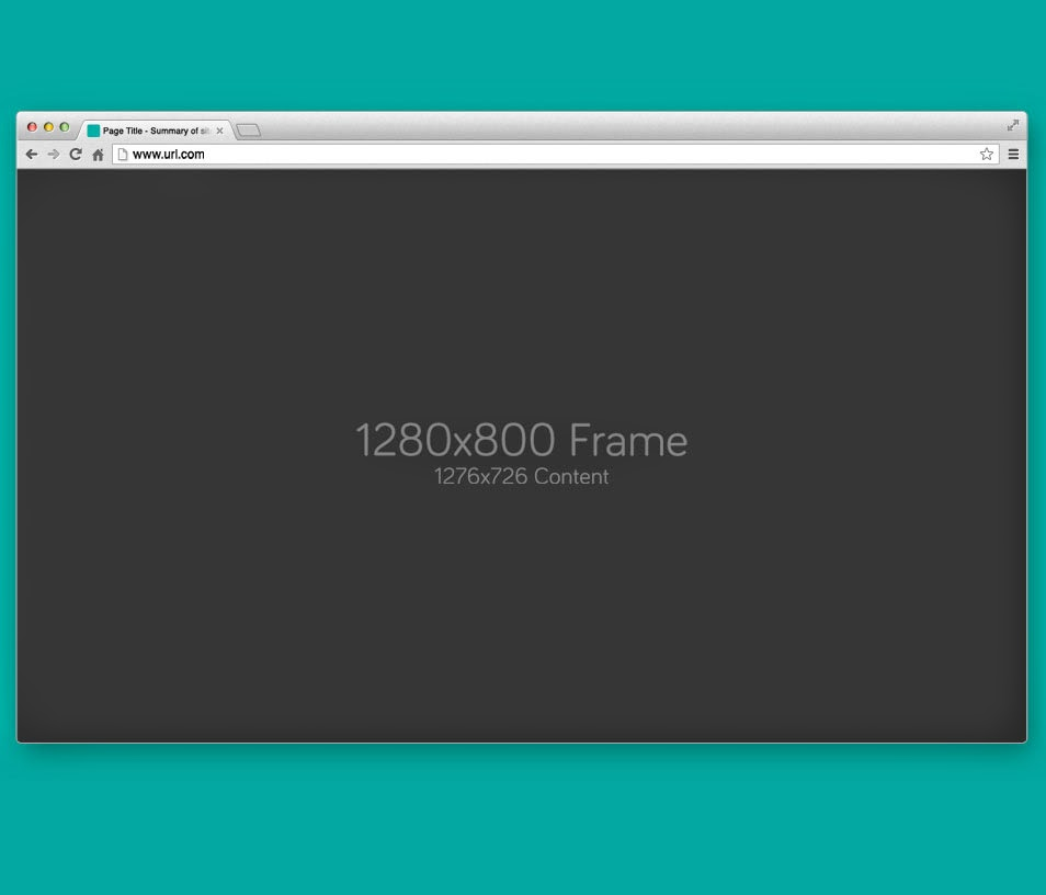 Free Google Chrome Browser PSD
