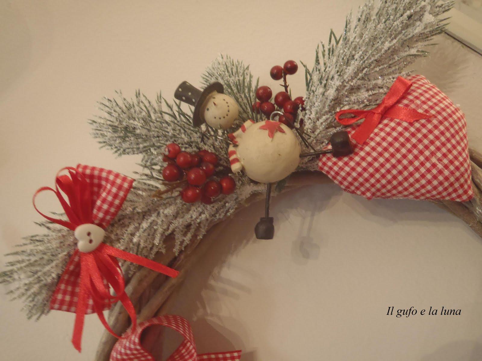 Il gufo e la luna shabby chic country style ghirlande - Decorazioni natalizie stile shabby chic ...