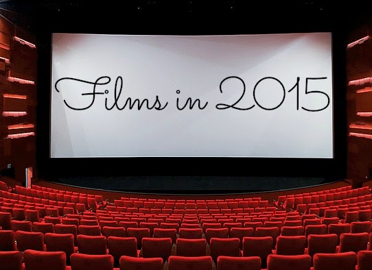 Cinema screen and theatre chairs with 'Films in 2015' text