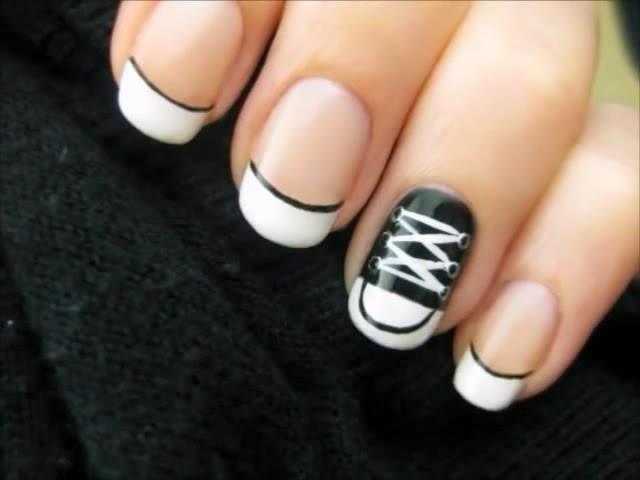 Converse Shoe Nails Art