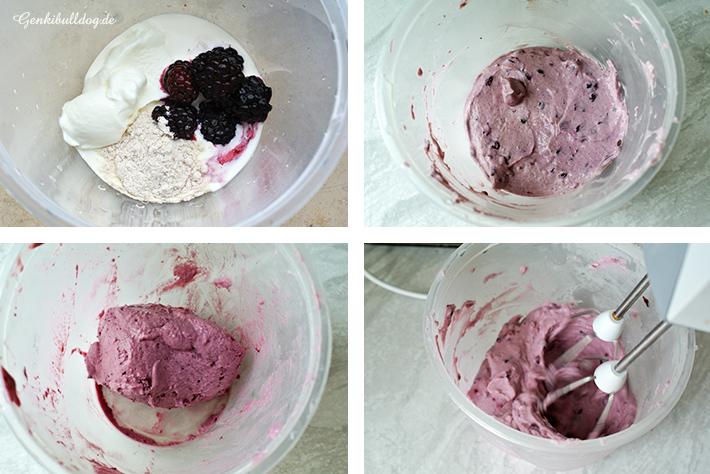 Himbeer Frozen Joghurt Rezept für Hunde