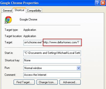Remove delta-homes.com, removal instructions