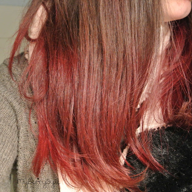 tie and dye rouge sur mes cheveux chatain fonc avec crazy color myberrystyle blog beaut. Black Bedroom Furniture Sets. Home Design Ideas