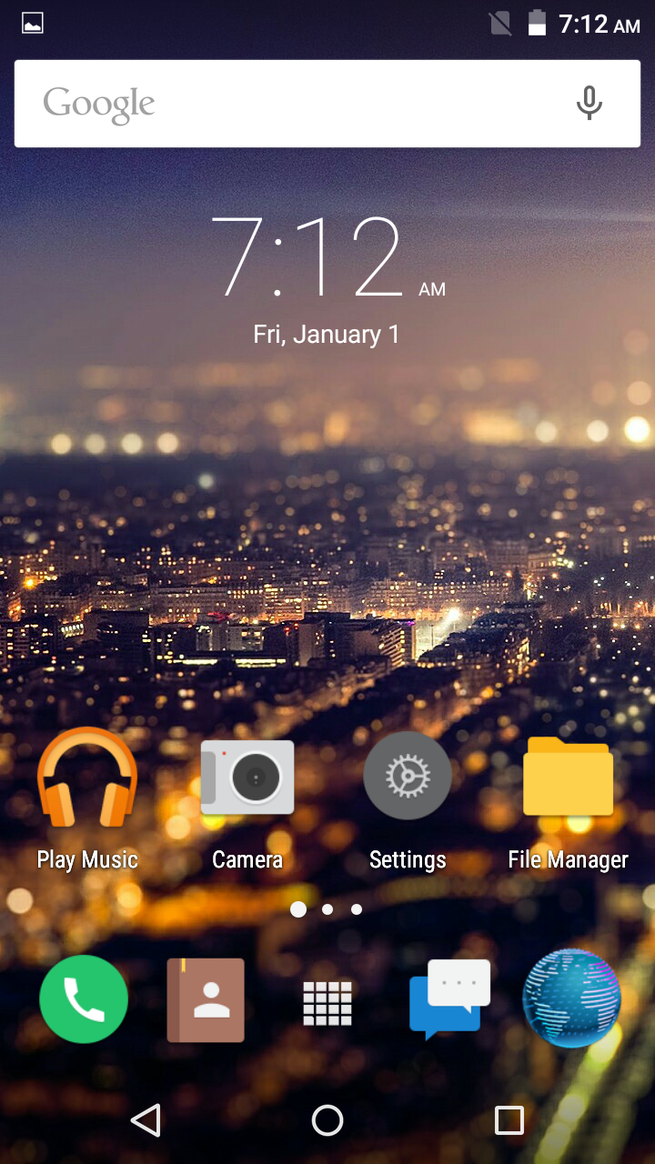 Primo H4 Home screen