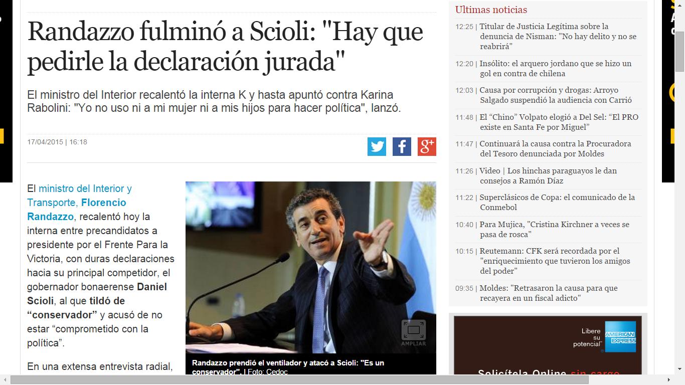 Te cuento por que no voto a Scioli