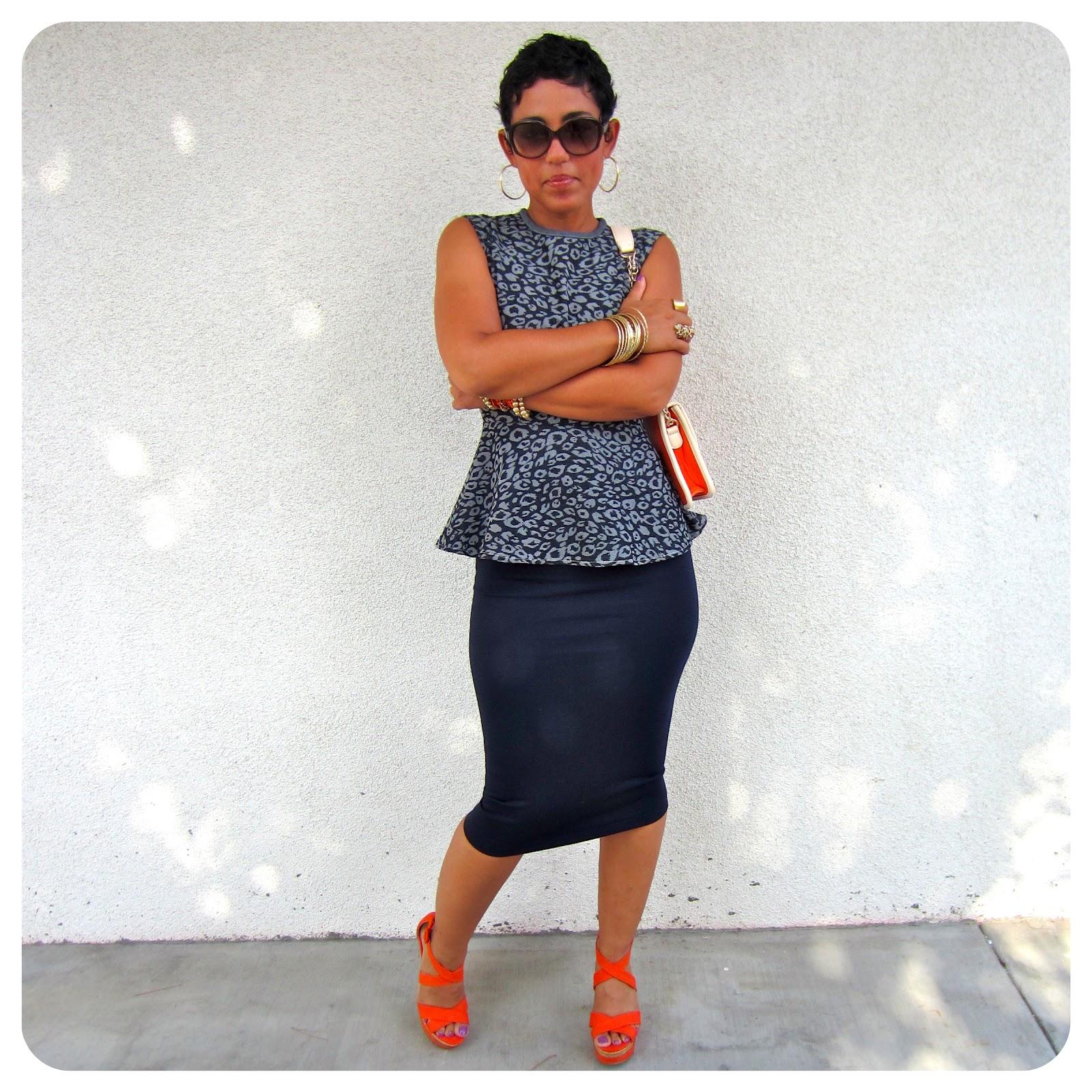 DIY Peplum Top + Pencil Skirt + Pattern Review Vogue 8815 |Fashion ...