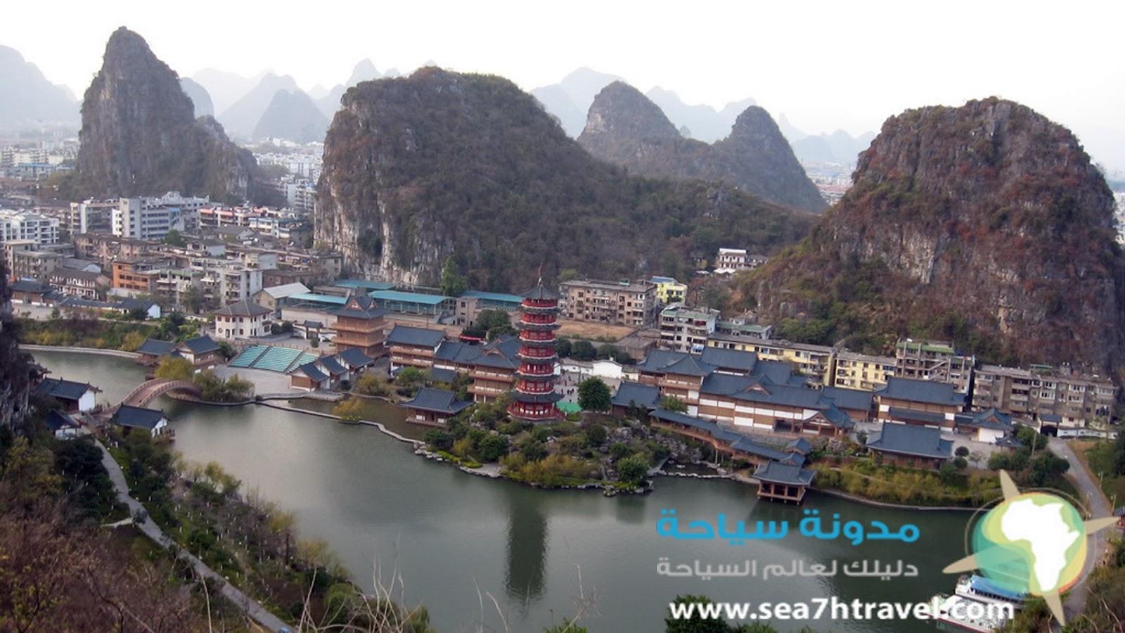 المناظر الطبيعية في قويلين في الصين Guilin