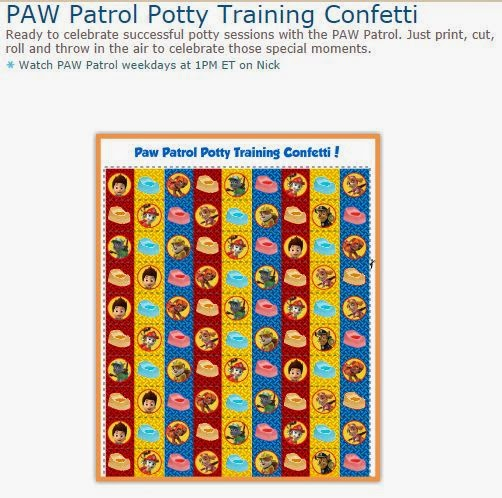 Paw Patrol Free Printable Confetti.