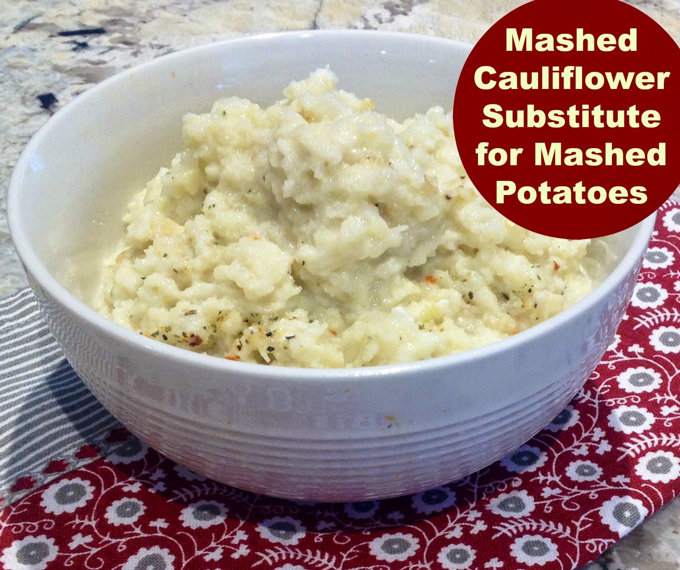 cauliflower mashed like mashed potatoes