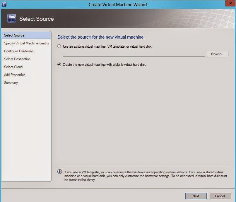 SCVMM 2012 : Part 4 - Create the first VM in Virtual Machine Manager ...