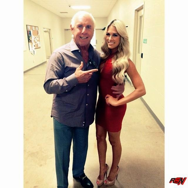 Ric Flair Hanging Out with Kelly Kelly.
