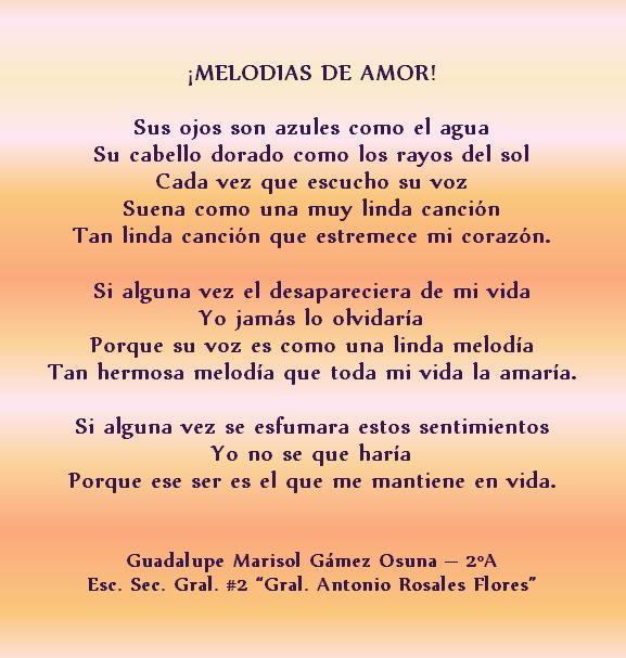 Poemas De Amor En Espanol Para El