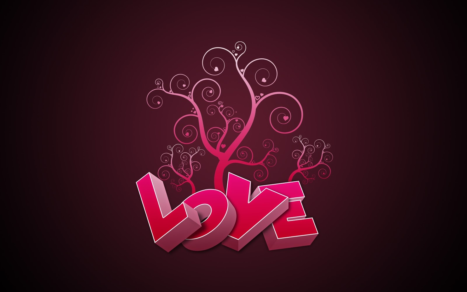 Love in Pink 1680x1050 Wallpaper