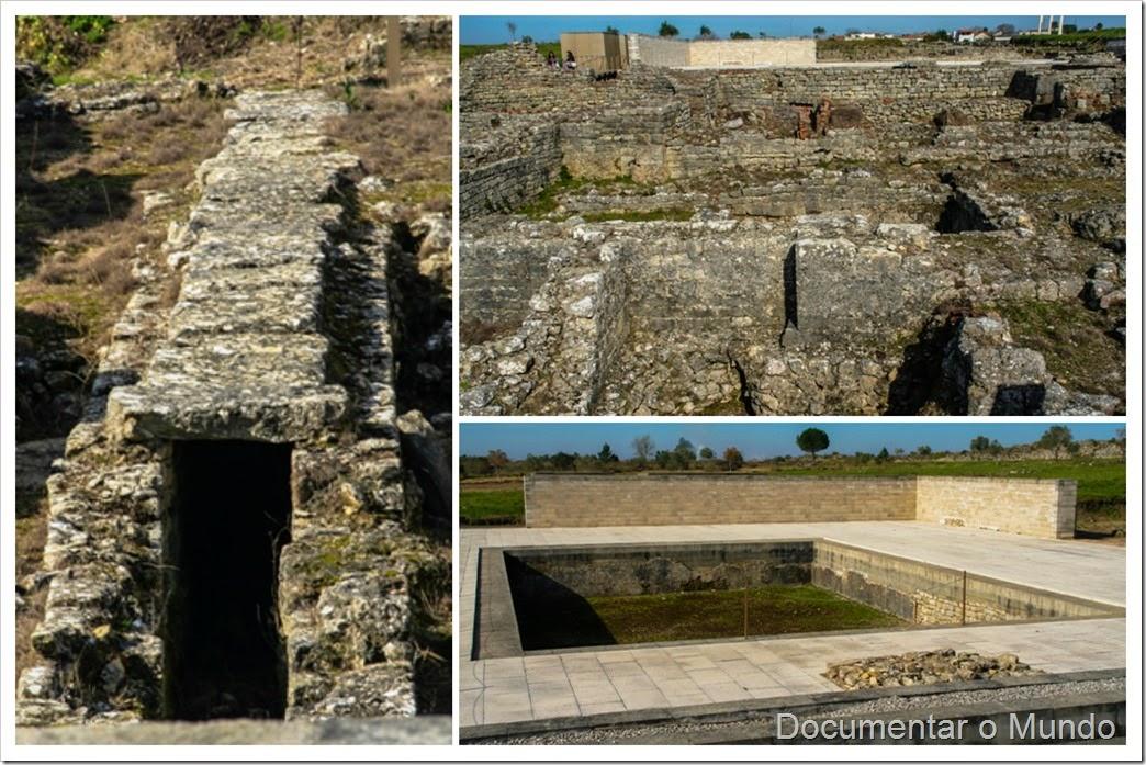 Grandes termas do sul; Ruínas de Conímbriga; Vestígios romanos em Portugal; romanização em Portugal