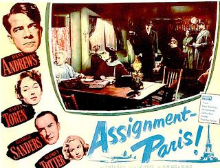 Carátula, poster, dvd, cine clasico: Destino Budapest | 1952 | Assignment: Paris