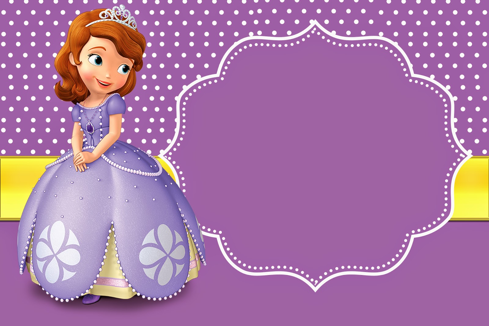 Invitaciones Para Imprimir De Sofia the First