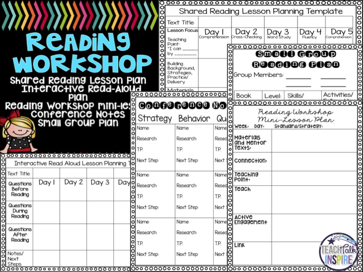 Launching the writing workshop do 39 s and don 39 ts the first for Interactive read aloud lesson plan template