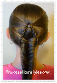 Recent Favorite Hairstyle Tutorial - The Suspended Fishtail Braid -
