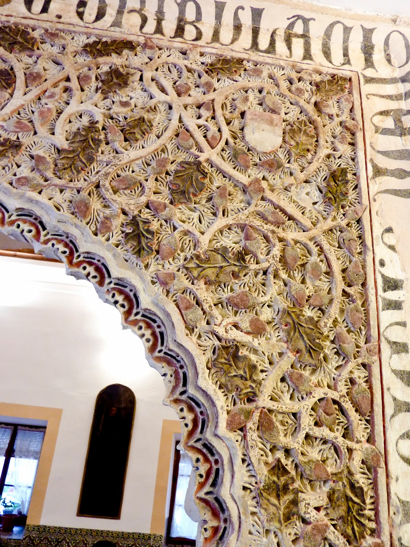 Decoración morisca Monasterio de San Clemente en Toledo