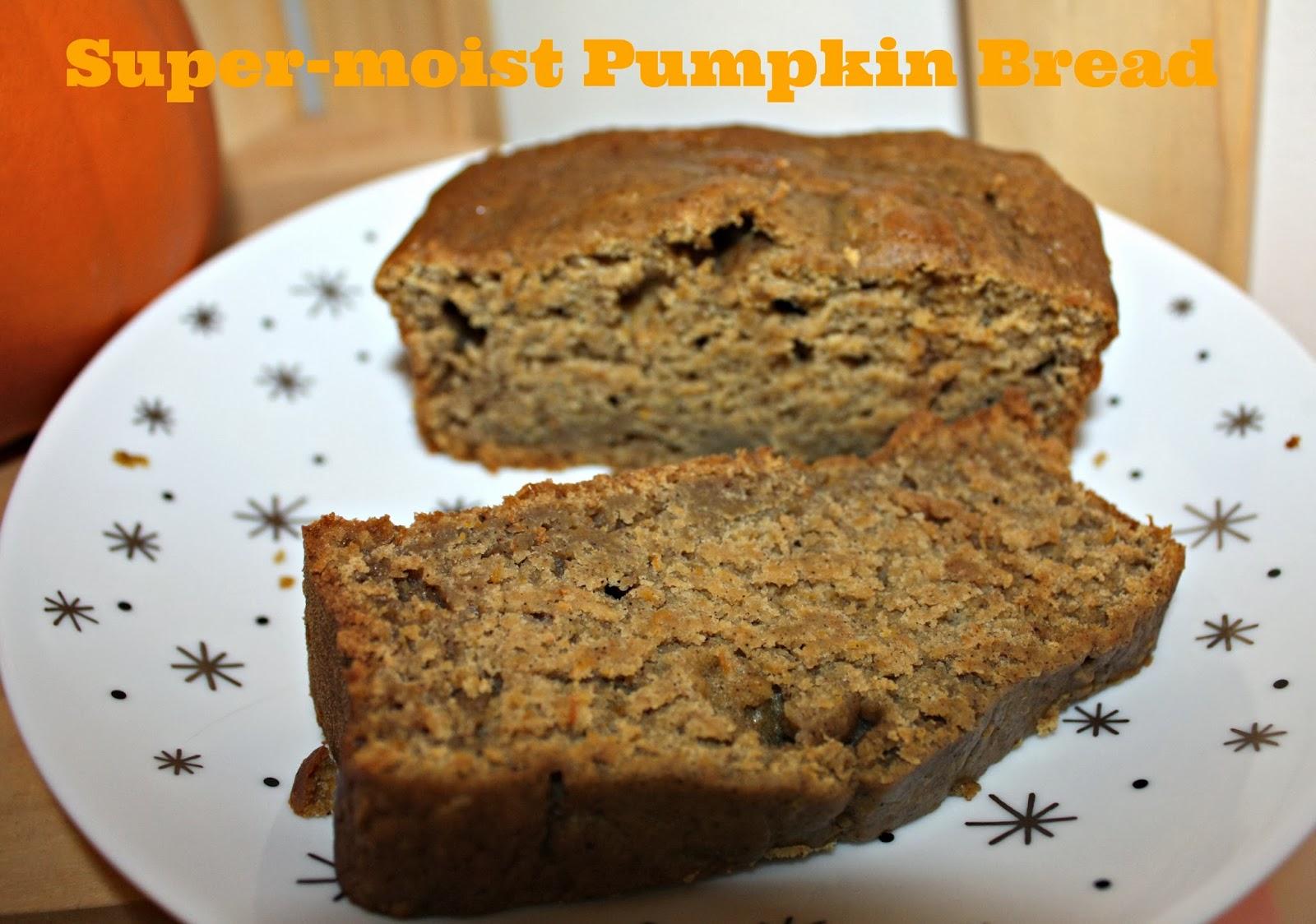 Little Time and a Keyboard: Super-moist Pumpkin Bread