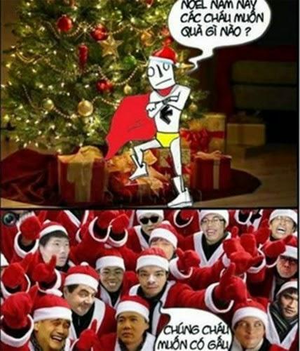 Ảnh chế hài hước về ông già Noel