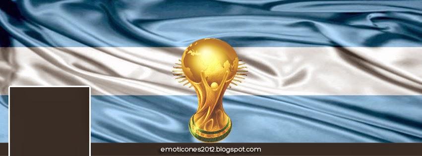 Portada Facebook HD Bandera Argentina y la Copa del Mundo