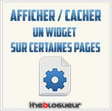 Afficher Cacher Widgets Blogger
