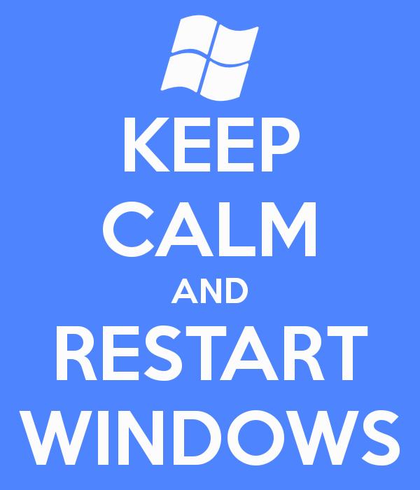 gambar reboot komputer dengan aman