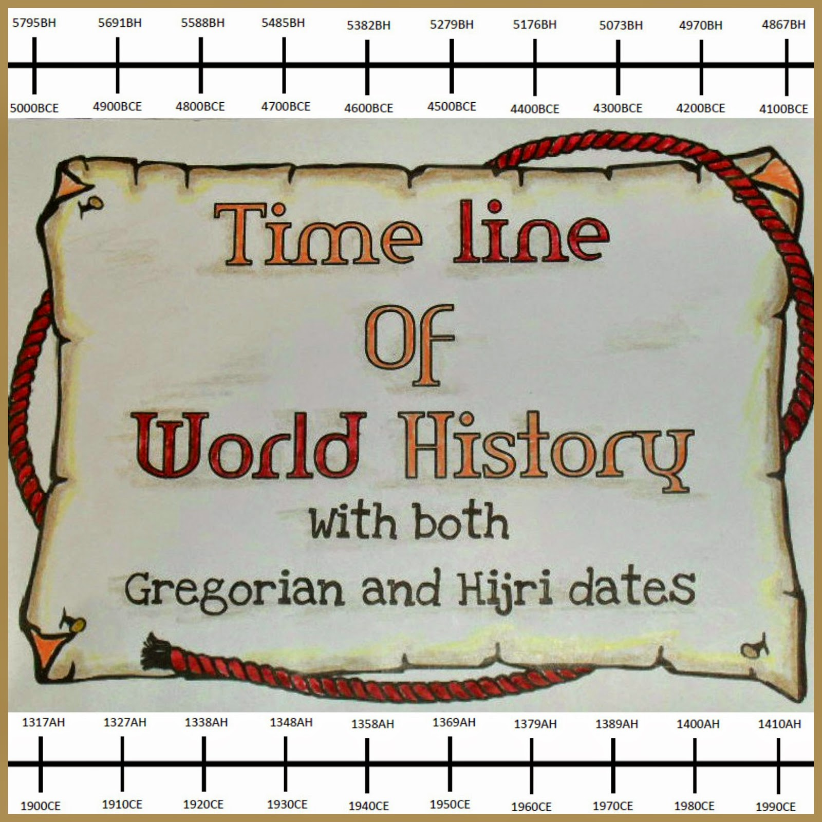A muslim homeschool printable time line with both hijri and printable time line with both hijri and gregorian calendar dates fandeluxe Image collections