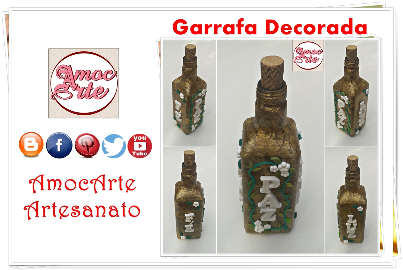Diy Garrafa decorada