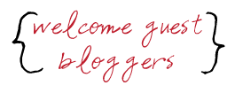 welcome guest bloggers