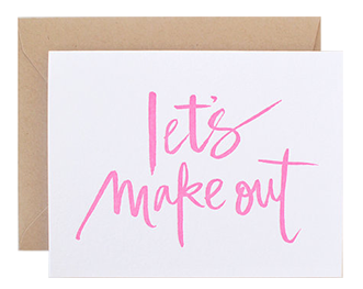 Let's Make Out Card from Studio Slomo