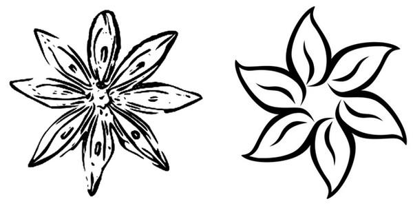 Dessin facile a dessiner fleur jolie sketch coloring page - Fleurs a dessiner modele ...