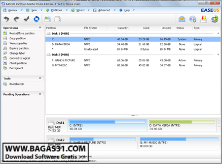 EASEUS Partition Master 8.0.1 HE 2