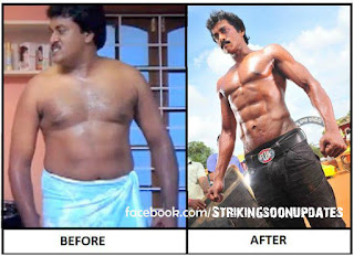 comedian sunil six pack body pics photos