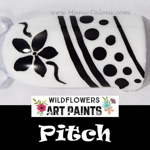 manic talons nail design wildflowers
