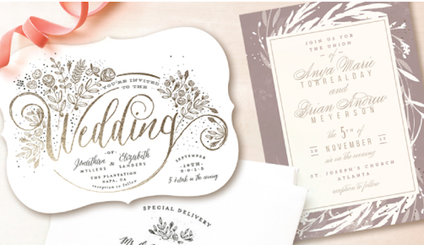 wedding invitations & save the dates minted