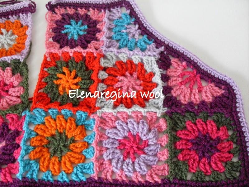 Elenaregina wool: gilet con piastrelline parte 2