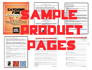 Catching Fire Scavenger Hunt Activity - Sample Pages