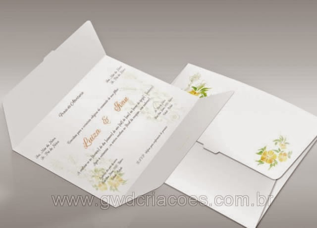 Convites de Casamento - Clássico 05