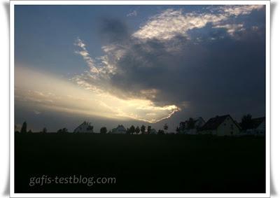 Wolkenspiel in der Abendsonne