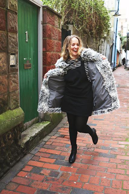Petit Bateau Stripe Top & Topshop Dress by What Laura did Next